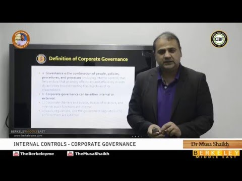 CMA Part 1 | Internal Controls, Corporate Governance | Dr.Musa Shaikh