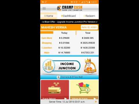 How to withdraw your money in champcash
