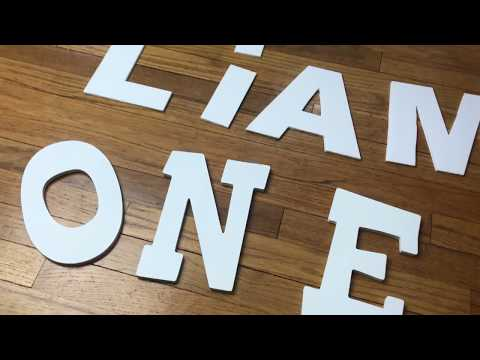 DIY Foam Board Letters, Nursery Art, Wall or Birthday Decor, Kids Craft Project