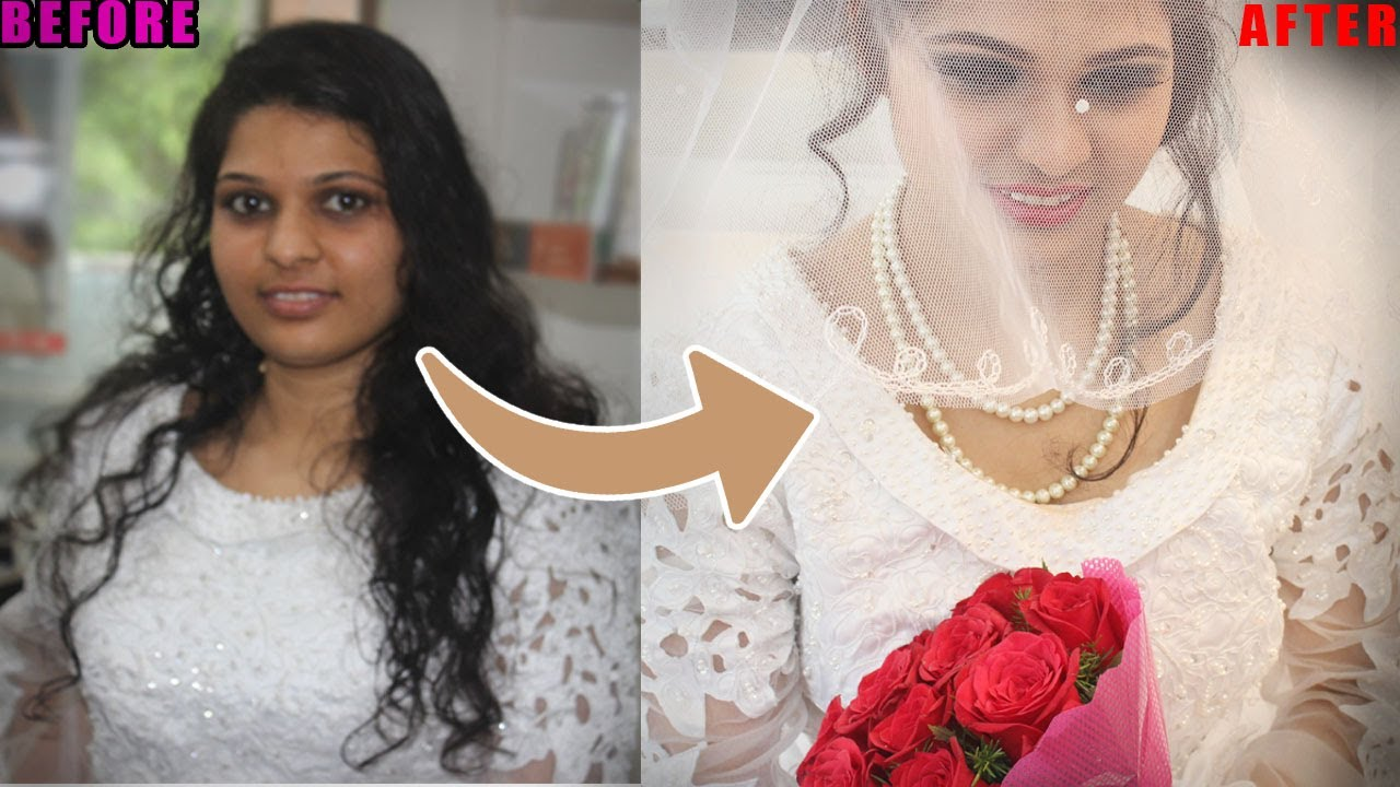 christian bridal makeup and hairstyle | simple bridal bun hairstyle &makeup for wedding
