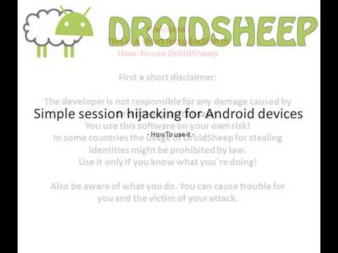 how to use droidsheep for rooted android device