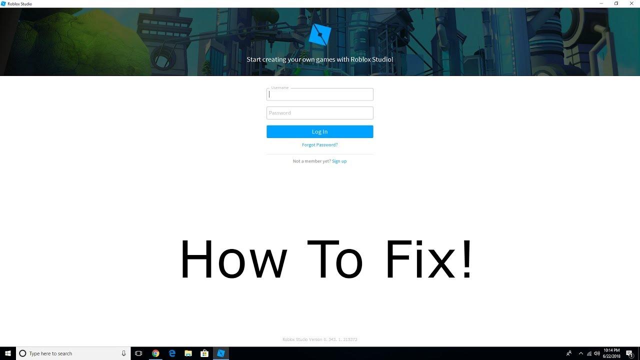 How To Fix Roblox Studio Username And Password Windows 10