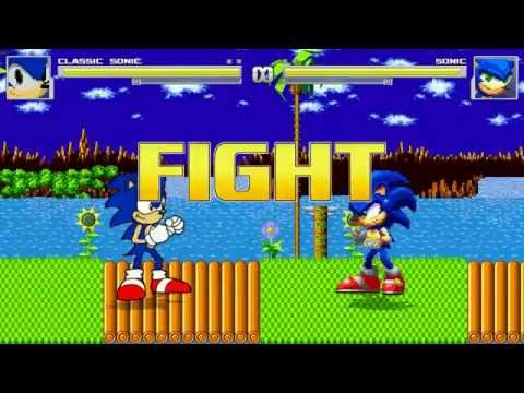 AN Mugen Request #90: Classic Sonic VS Sonic