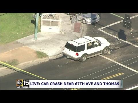 live now totaled car scary car crash in phoenix arizona youtube. Black Bedroom Furniture Sets. Home Design Ideas