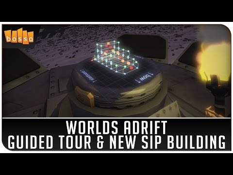 Worlds Adrift on Twitch - Guided Tour & New Ship Building