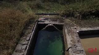 旧呉海軍工廠 亀ヶ首試射場跡の空撮 -- The remains of Kamegakubi Naval Proving Ground