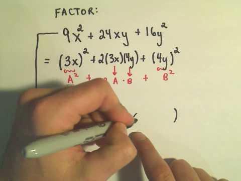 Factoring Perfect Square Trinomials - Ex1