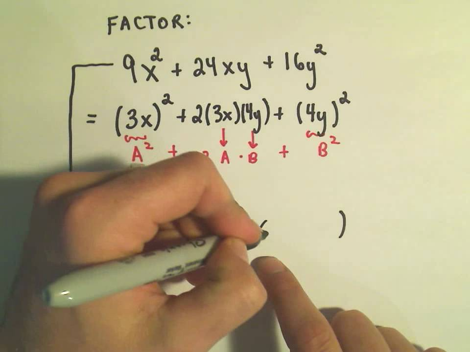 Factoring Perfect Square Trinomials - Ex1 & Factoring Perfect Square Trinomials - Ex1 - YouTube