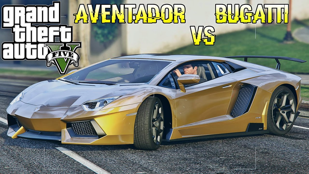 gta 5 lamborghini aventador vs bugatti veyron mod show case youtube. Black Bedroom Furniture Sets. Home Design Ideas