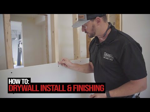 Wood Frame Drywall Install & Finishing | Shipping Container Home