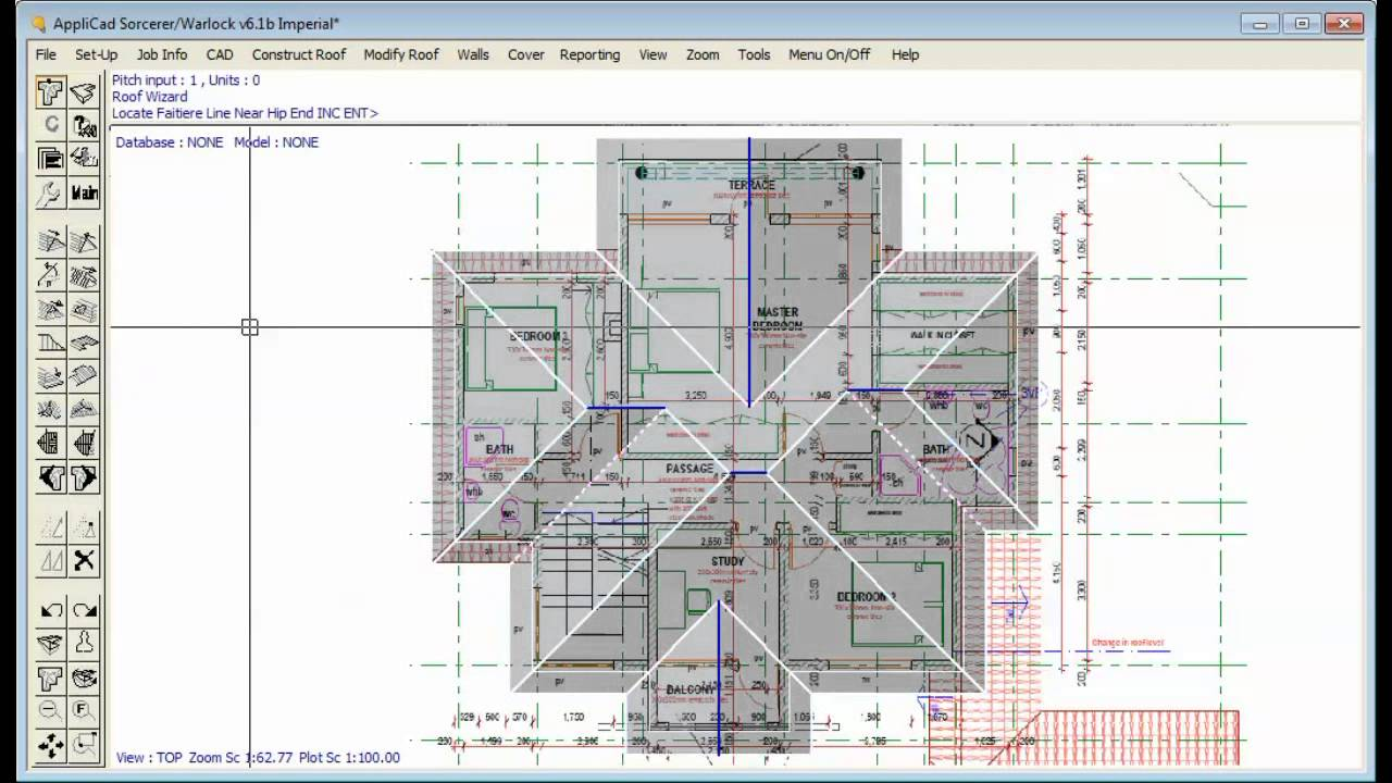 applicad roof wizard digitising from pdf drawings youtube