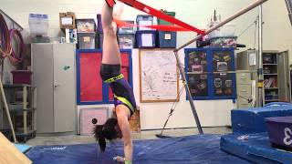 Straddle Press Handstand Drill