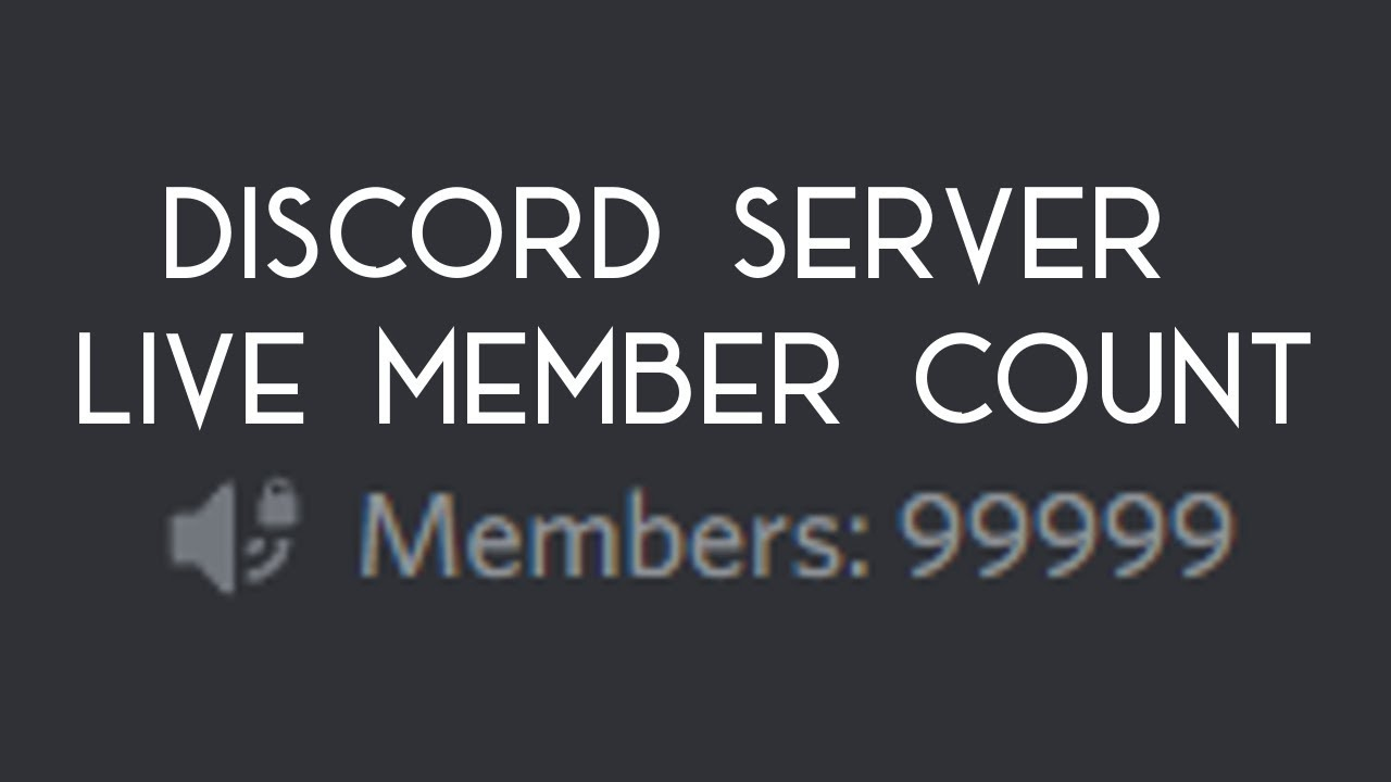 Discord Tracker discordjs tutorial - live member count tracker on your server!