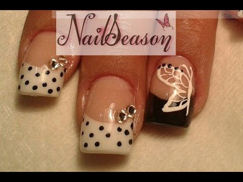 DIY Acrylic Nails Step By Butterfly Tutorial 2015