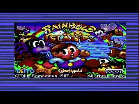 Rainbow Islands - Commodore 64 (Loading & Gameplay) C64