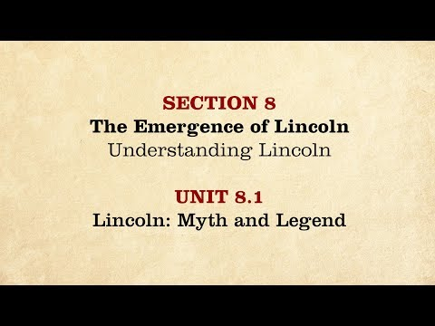 MOOC | Lincoln: Myth and Legend | The Civil War and Reconstruction, 1850-1861 | 1.8.1