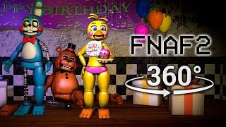 360°  Five Nights at Freddys 2 Test Show [FNAF/SFM] (VR Compatible)