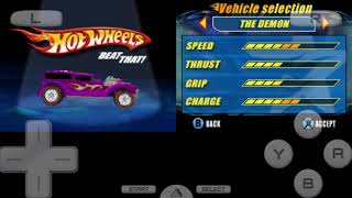 Hotwheels Beat That(Nintendo DS Version) all cars in game