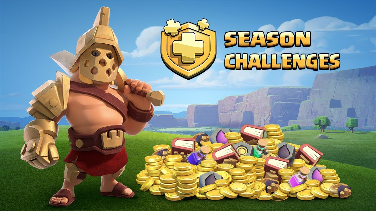clash of clans season challenges have arrived new update. Black Bedroom Furniture Sets. Home Design Ideas