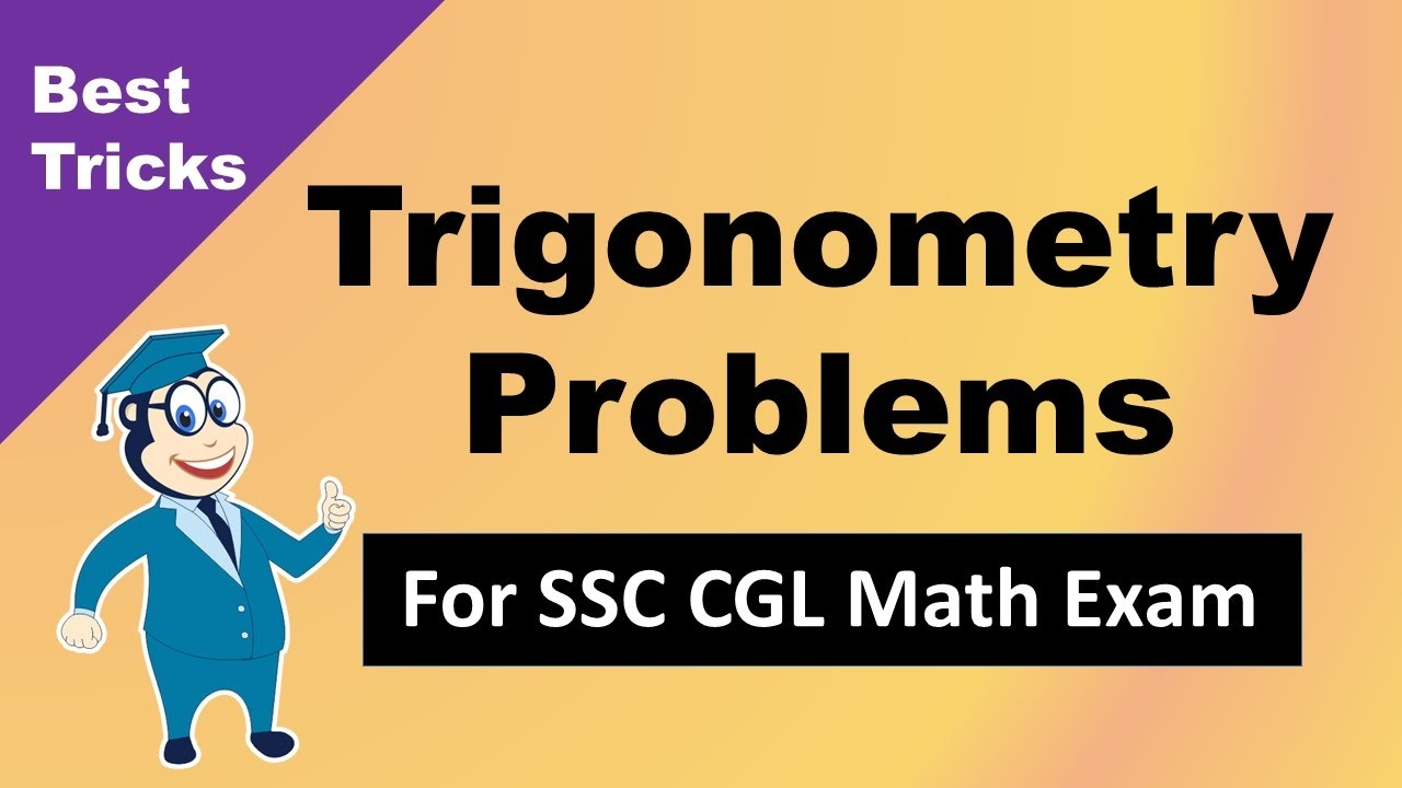 SSC CGL Trigonometry in Maths - Problems & Answers - YouTube
