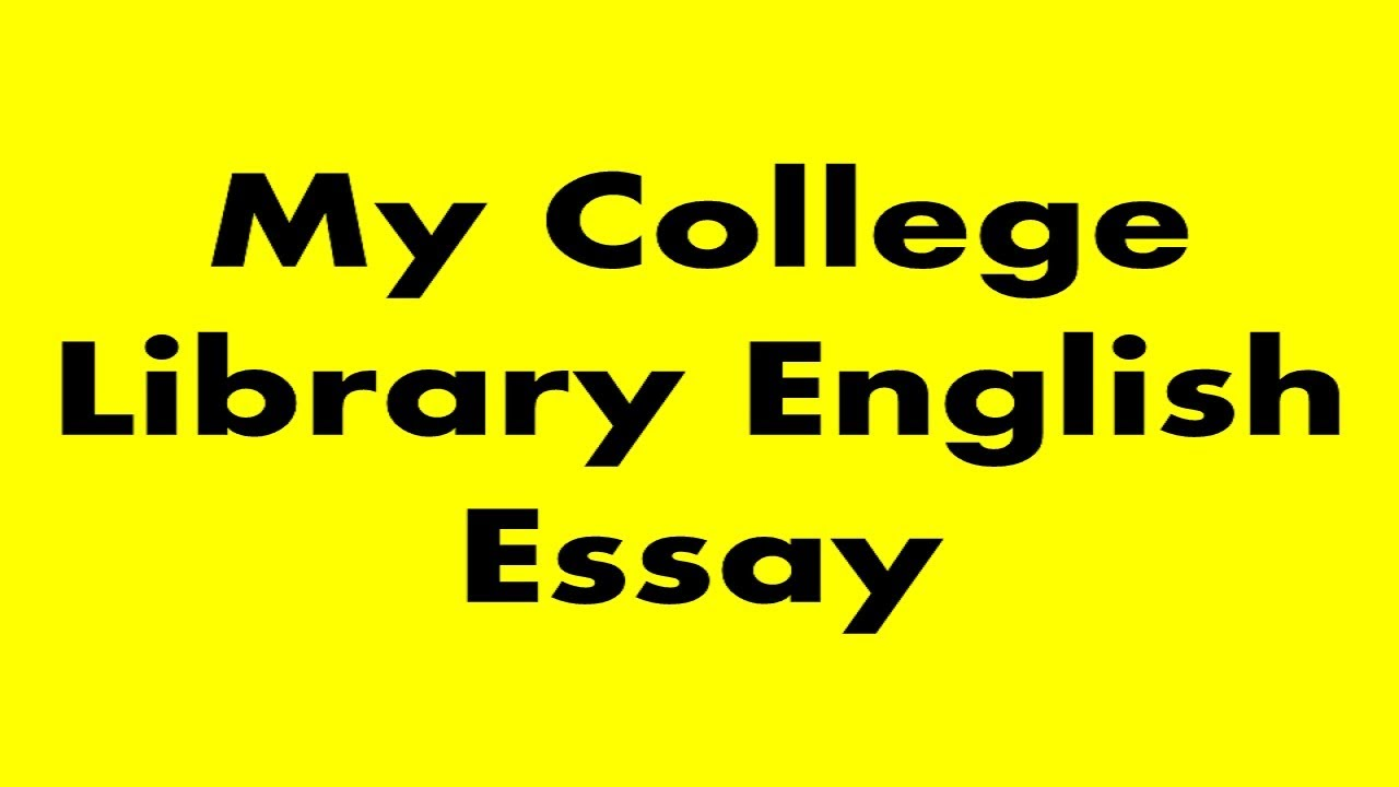 Library essay in english