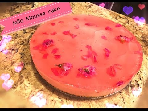 Romantic Rose Jello Mousse Cake Low Fat Youtube