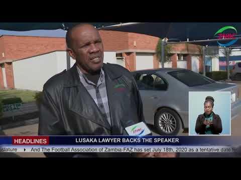 LUSAKA LAWYER BACKS THE SPEAKER