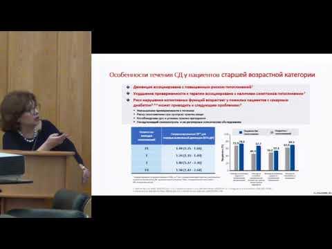 Петунина Н.А. Выбор сахараснижающей терапии у пожилых пациентов с сахарным диабетом 2 типа.