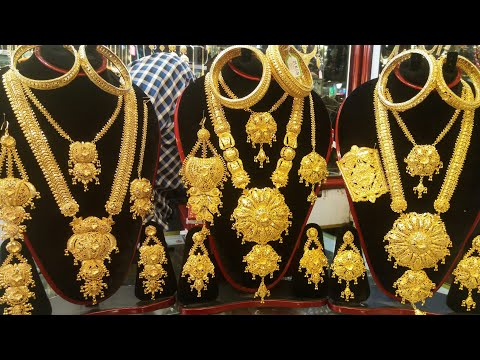 Latest Silver gold plate jewellery for bridal collection /