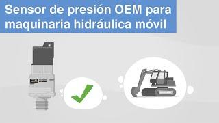 Sensor de presión OEM para maquinaria hidráulica móvil | modelo MH-4