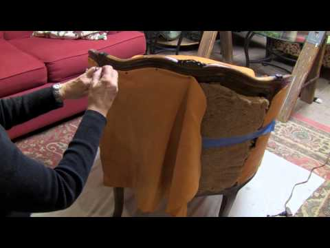 A Found Treasure Restored - Reupholster a Chair