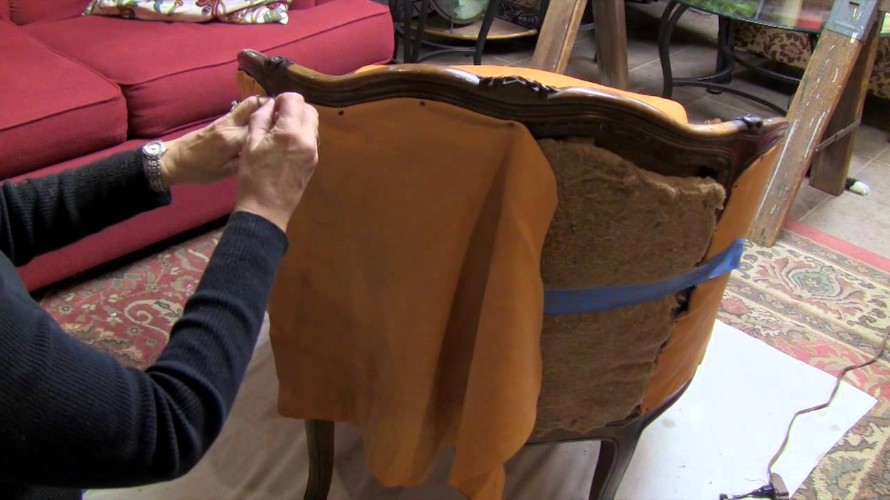 A Found Treasure Restored  Reupholster a Chair  YouTube