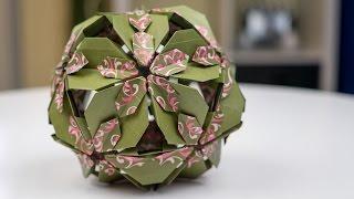 Baixar Basteln mit Papier: Origami Blütenkugel falten