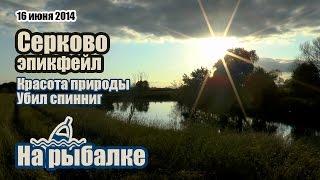 Деревня Серково. Серебряно Прудский район. Рыбалка на Осетре.