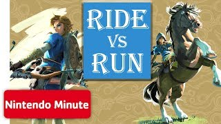 The Legend of Zelda: Breath of the Wild - Run vs. Ride CHALLENGE 🏇