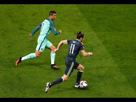 Ronaldo Vs Bale Crazy Skills & Speed Show ●National Teams |HD|