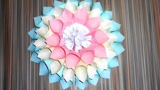Flowers made of paper. Large flowers. How to make flowers out of paper. Цветы из бумаги. Большие цветы своими руками