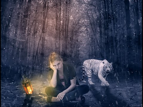 Girl & The White Tiger - Photoshop Manipulation Fantasy Effect Tutorial