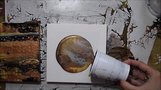 Cells | Fluid Painting | Swipe & Flip Cup Technique | Paint Pour | Metallic Paints | Jasvir Kambo