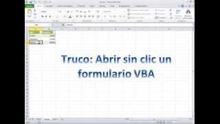Cómo abrir formularios automaticamente en una celda de Excel con macros