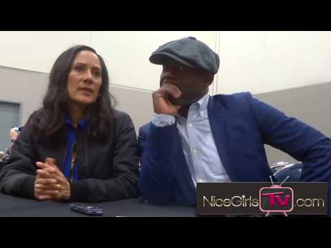 Sakina Jeffrey & Paterson Joseph talk about their characters' relationship on Timeless at WonderCon