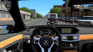 city car driving mercedes benz e350 bluetec w212