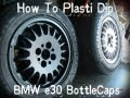 How To: Plasti Dip BMW E30 BottleCaps Rims (Flat Black)