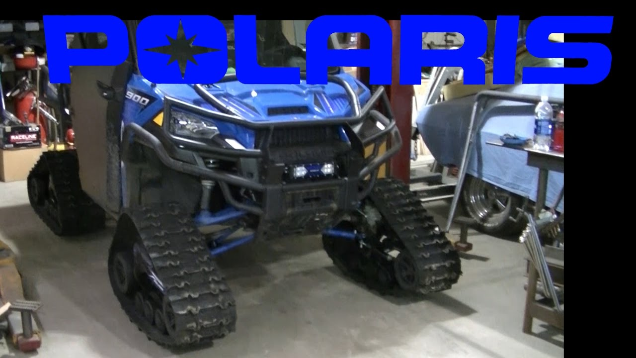 Polaris Ranger Crew 900 >> Polaris Ranger 900 Camoplast Tracks Install - YouTube