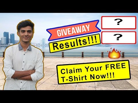 Giveaway Winner!!! Claim Your Free T-Shirt Now!!! iProTechHub🎽🏅