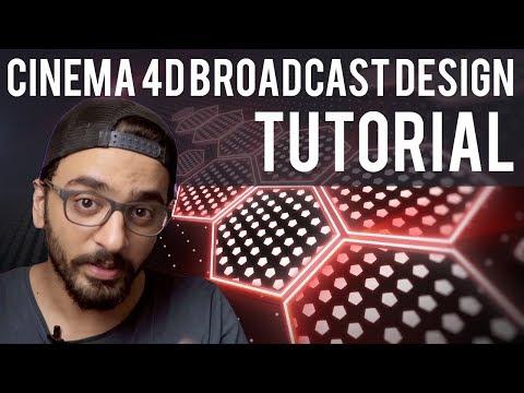 Cinema 4d Broadcast Design Tutorial   Hindi Urdu thumbnail