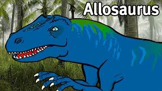 [Subtitle] Allosaurus vs. T-rex, Fierce Carnivores   Late Jurrasic   Genikids Dinosaur