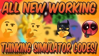 *NEW* ALL 3 WORKING EMOJI CODES! (Roblox Thinking Simulator)