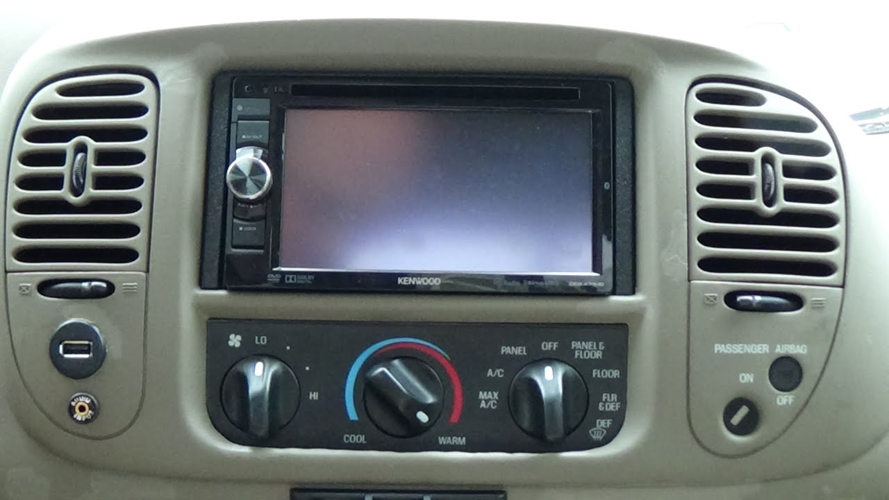 03 f150 double din mod and kenwood ddx471hd dvd receiver install [ 1280 x 720 Pixel ]