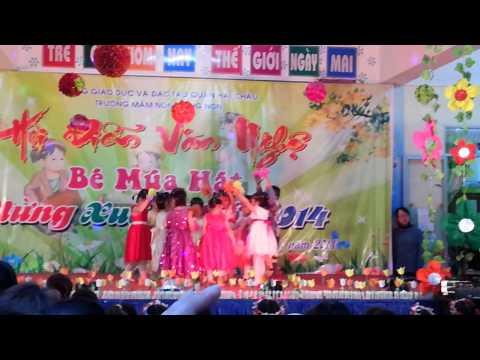 Tết - Múa Vườn hoa xuân - Lớp Bé 1 Trường Mầm non Măng non - Đà Nẵng